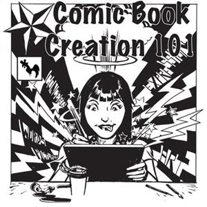 The flyer for Kiyoshi Nakazawa's next comics course at Blue Rooster Art Supplies.