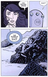 """A page from a """"Lobster Johnson"""" comic."""