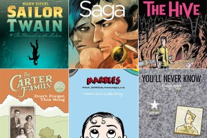 A montage of covers from some of the more critically acclaimed graphic novels of 2012.