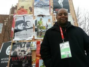 Filmmaker/ Artist/ Writer Neil Kendricks enjoying a movie marathon of indie cinema's best and brightest at the 2013 Sundance Film Festival.