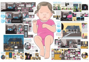 One of the many complicated and beautifully rendered centerpieces in Chris Ware's critically acclaimed book Building Stories.